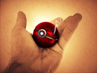 The Pokeball of Iron Man by wazzy88