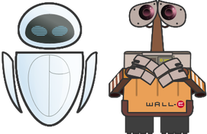 Wall-E and Eve by Juandfr