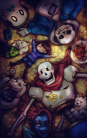 UNDERTALE CREW by Londei