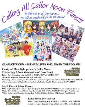 Glass City Con Moonie Events Flyers 2016 by lilly-peacecraft