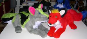 More canid plushes by Bladespark