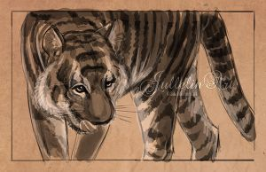 The Tiger - Quick Sketch by Jullelin
