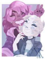 Bad Pearl and Mystery Girl by Xylinthia