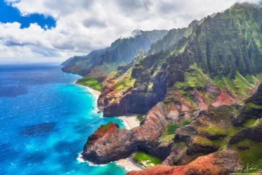 Na Pali Aerial by AndrewShoemaker