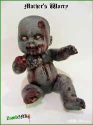 'Mother's Worry' Zombie gore tattoo doll by ADzArt