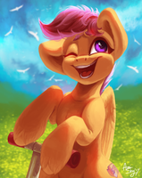 Scootaloo! by AmiShy