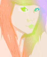 Rainbow scene girl by iAngelDimples