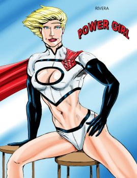 Sexy Power Girl by lenlenlen1