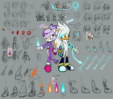 Silver and Blaze (my concept and final redesign) by AZ-Derped-Unicorn