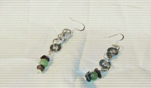 washer nut earrings by stardove3
