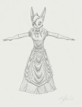 Anthro Rabbit Woman - T-pose by SolidSpy24