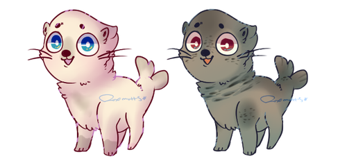 Seal Puppies!! Adopt open!! by Fox-mutts