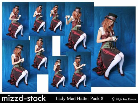 Lady Mad Hatter Pack 8 by mizzd-stock