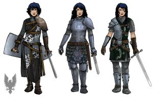 Knight Concepts - Female by daestwen