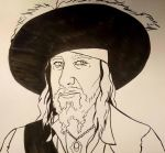 Hector Barbossa (lines) by Countess-Nynke