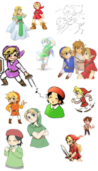 Doodle Time #4: Young Link and Friends Edition! by HeroLinkTriforce