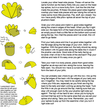 Joltic Plushie Tutorial 2 of 3 by Aemi