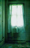 Abandoned Mental Asylum, Curtain by cjheery