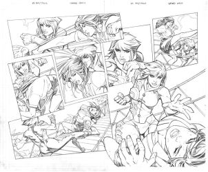 Executive Assistant Iris vs Thalia pages 10 and 11 by RandyGreen