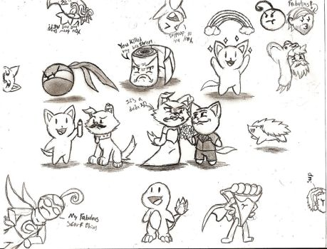Attack of the Random Doodles by NeonNeoz