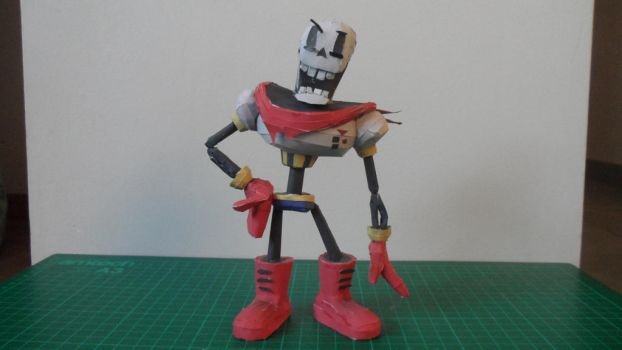 Undertale Papercraft: Papyrus by Crococraft