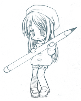 Chibi Pencil cleared by CatPlus