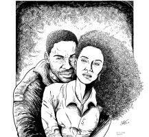 Drawing of a couple of Brazilian actors by CaioRob