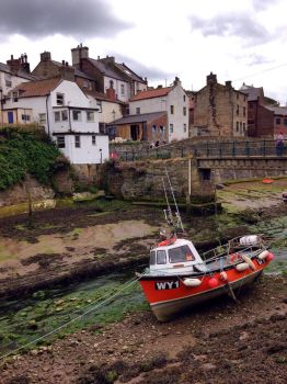 Staithes at low tide by Azrael2010