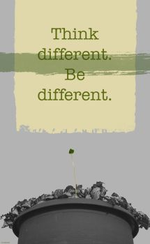 Think different. Be different. by YumeNoJidai