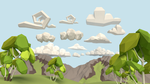 Clouds [Lowpoly][Tutorial] by Mezaka