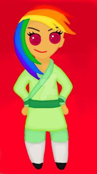 Rainbow Dash as Mulan by WolfsGesang