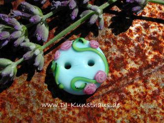 flower button lampwork by dj-kunsthaus