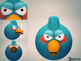 AngryBirds 3d Project  BlueBird by daniacdesign