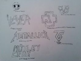 Band logos by MOTLEYLOMBAXCRUE666
