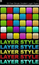 30 simple gradient Layer Style by HollowIchigoBanki