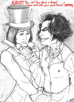 How about a shave, Mr. Wonka? by MaRaMa-Artz