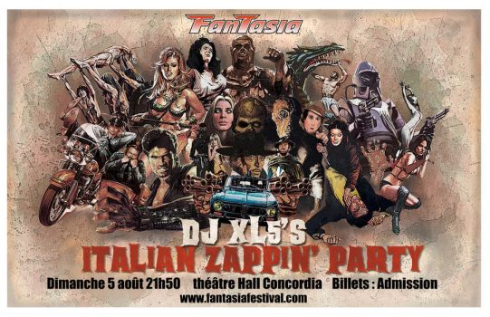 poster DJ XL5 italian zapping' party by AmySake