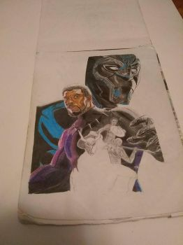 Black Panther by delcyd