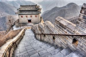 Juyongguan Great Wall Beijing China by davidmcb