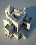 Escher_ AscendingDescending _ 3D Model by Blastebird