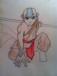 Aang ready for battle by Frankenpoo
