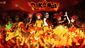 Fire type Pokemon trainers (Re-Updated art)