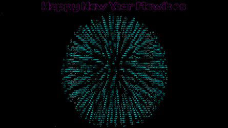 Happy New Year Mewbies - ASCIIMation by mewbies