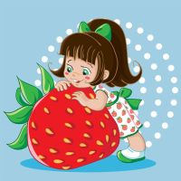 Strawberry fairy vector 2 by jkBunny