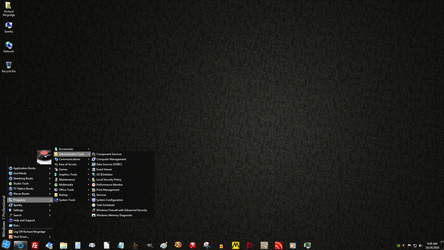 Windows 7 on Spanky - Black Tiles by slowdog294