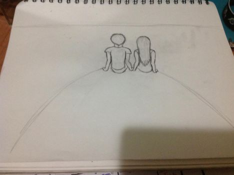 Art of two human, uncolored by RainbowGuppy1