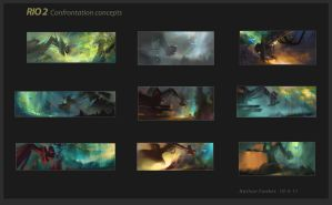 Rio2 Confrontation Roughs by NathanFowkesArt