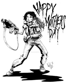 Happy Mothers Day 2018 by OuthouseCartoons