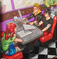 The Mortal Instruments Colouring Book Page 3 Diner by AkatsukiMemberWoolfy