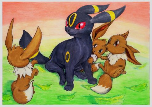 On the walk nurse umbreon by SSsilver-c